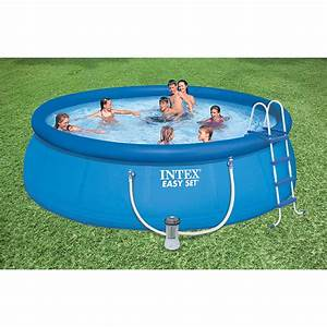 Intex 15 U0026 39  X 48 U0026quot  Easy Set Pool  W   Filter Pump  Ladder