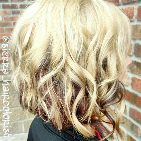 Blonde Hair With Paprika Formula Underneath Hair Colors