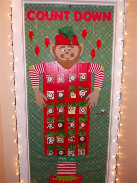 christmas office door decoration advent calendar