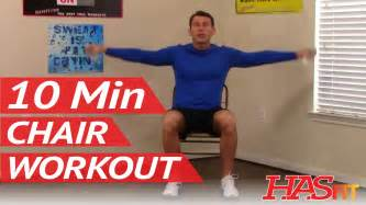 10 min chair workout for seniors hasfit seated exerci