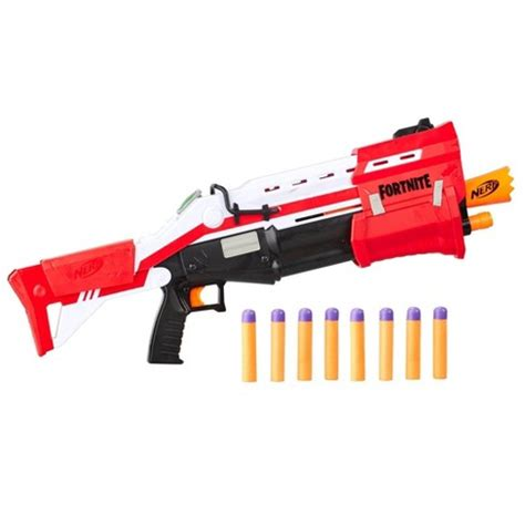 nerf fortnite ts blaster pump action dart blaster target