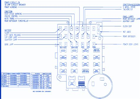 1992 Chevy Suburban Fuse Box Diagram by Gmc S 15 1991 Circuit Brake Fuse Box Block Circuit Breaker