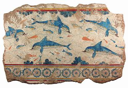 Greek Frescoes Dolphins Knossos Painting Fresco Ancient