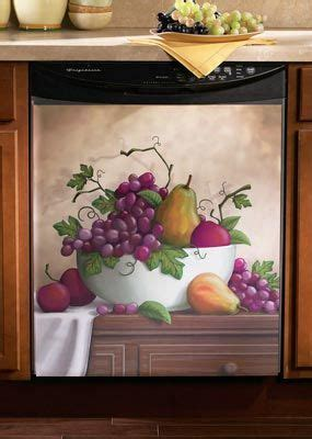 mixed fruit kitchen dishwasher cover magnet