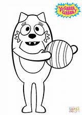 Gabba Yo Coloring Toodee Pages Ball Brobee Disco Muno Printable Drawing Balloons Characters Playing Clipart Getcolorings Cartoon Sensational Games Anime sketch template