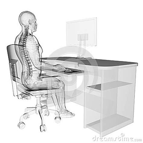 posizione seduta corretta posizione di seduta corretta fotografia stock immagine