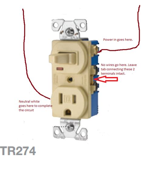 Wiring Electrical Single Pole Switched Outlet The Home