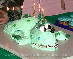 coolest homemade alligator cakes With crocodile birthday cake template