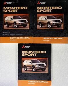 2000 Mitsubishi Montero Sport Factory Service Manual Set