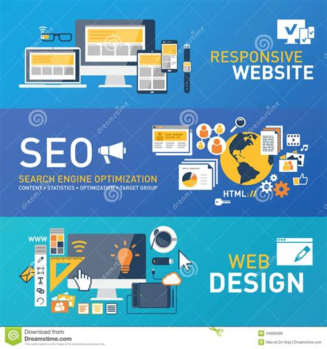 Web Seo by Responsive Webdesign Stock Vector Image 44680099