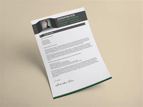 creative resume cv cover letter portfolio psd template