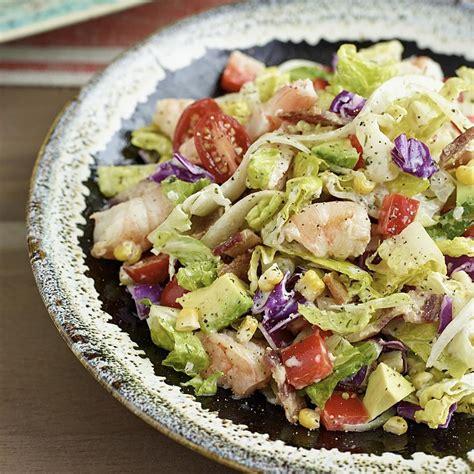 recipes for chopped avocado shrimp chopped salad recipe eatingwell com