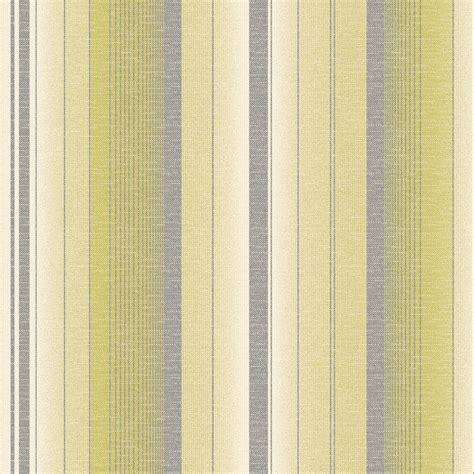 Fine Decor Amelia Striped Wallpaper Lime Green Cream