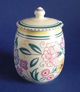 Vintage Poole Pottery CS Pattern Preserve Jar by Truda