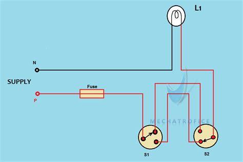 staircase wiring circuit diagram working
