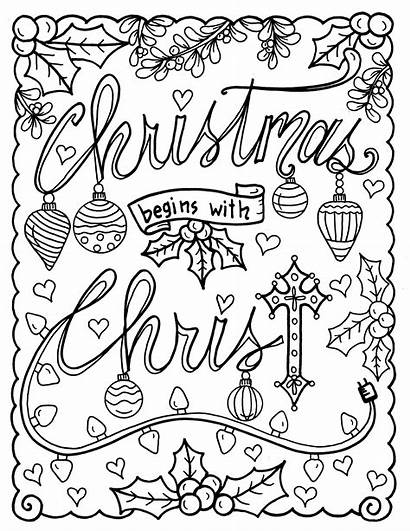 Coloring Christian Christmas Pages Adult Scripture Religious