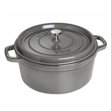 staub cocotte round grey qt 7l