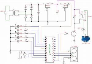 Complete Circuit Diagram Of The Microcontroller Based