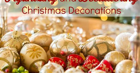 organizing  decluttering christmas decorations