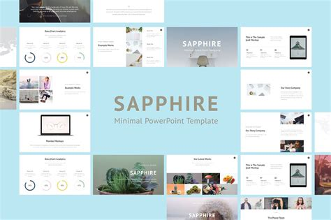 Minimalist Powerpoint Template Free 2 by Saphhire Minimal Powerpoint Presentation Templates