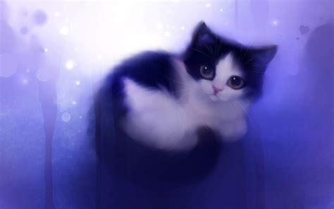 Cat Wallpaper (cartoon, Cute, Purple) Hd Cat Wallpaper