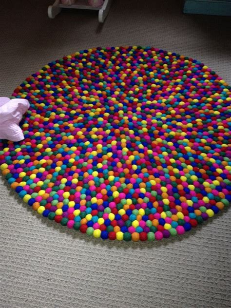 Wool Pom Pom Rug  Rugs Ideas