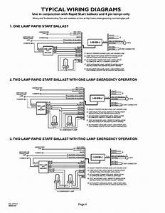 Typical Wiring Diagrams  Page 4  2lrsb42j Ac Two Lamp Rapid Start Ballast