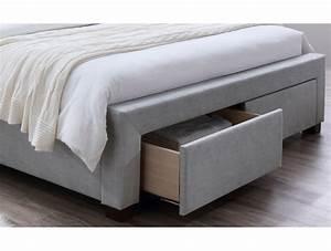 Lit 160 Tiroir : lit 180x200 avec tiroir maison design ~ Teatrodelosmanantiales.com Idées de Décoration