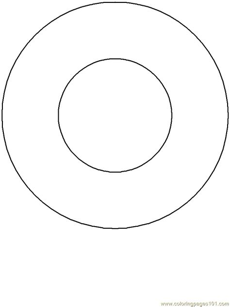 donut coloring page  simple shapes coloring pages