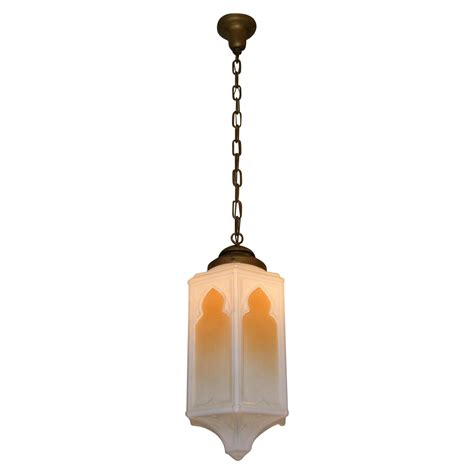 large vintage church pendant light fixture from