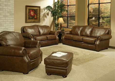 leather sofa set for living room vig
