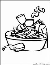 Dishes Dirty Coloring Clipart Sink Washing Pages Kitchen Broken Printable Clip Colouring Cliparts Fun Library Clipartstation sketch template