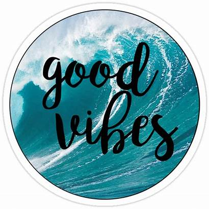 Vibes Waves Redbubble Stickers Sticker