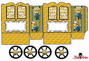 Minions  Princess Carriage Shaped Free Printable Box