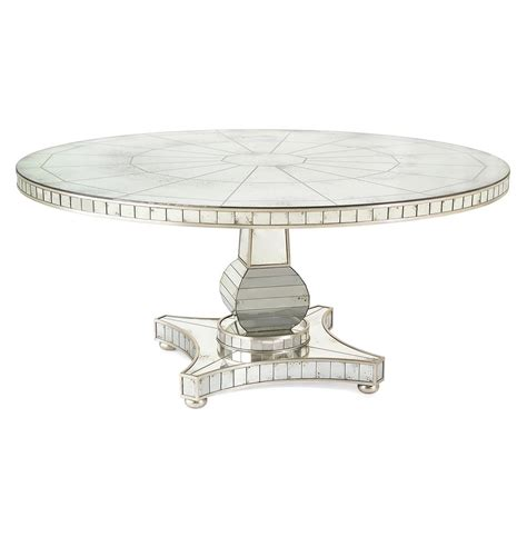round mirrored dining room table millie hollywood regency antique mirror silver round