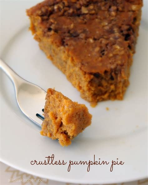 Pumpkin Pie Without Crust Healthy crustless pumpkin pie alida s kitchen