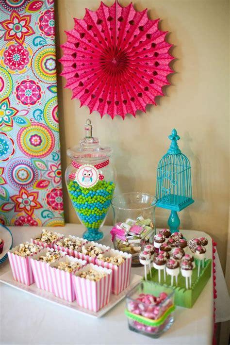 karas party ideas owl whoos  themed birthday party
