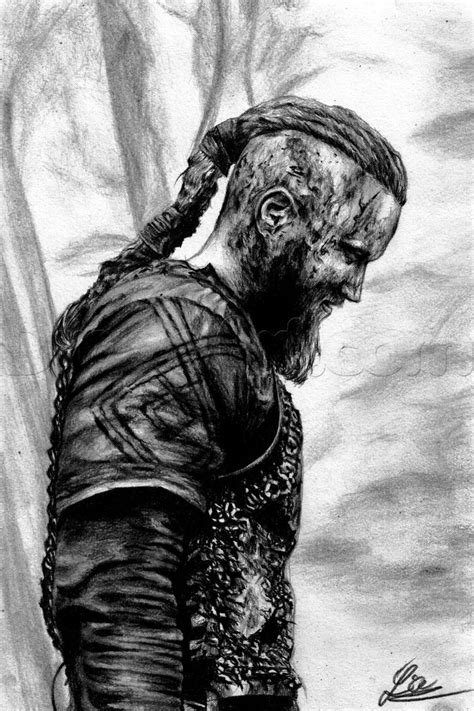 How To Draw Ragnar Lothbrok From Vikings by DuskEyes969