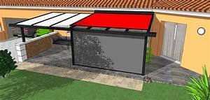 Panneaux Sandwich Pas Cher : projet pergola alu mixte panneaux sandwich verre store ~ Melissatoandfro.com Idées de Décoration