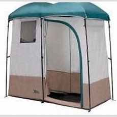 Double Shower Tent Outdoor Shower Tent (colors May Vary