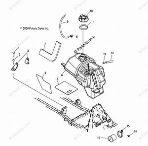 Polaris Atv 2005 Oem Parts Diagram For Fuel Tank   As  At  Au