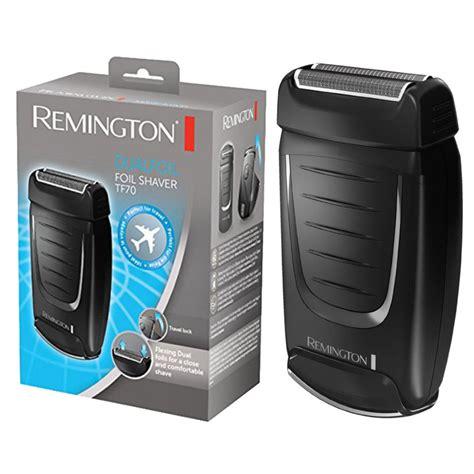 remington tf mens dry travel portable dual foil hair trimmer shaver