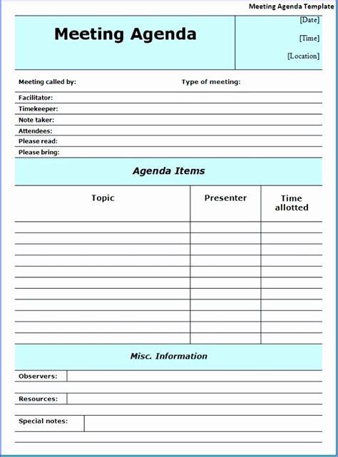 agenda template excel exceltemplates exceltemplates
