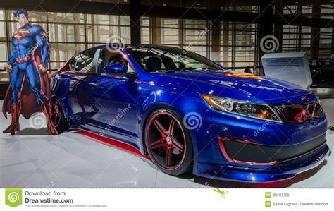 Kia Superman Optima Hybrid 2018 Redaktionell Foto Bild