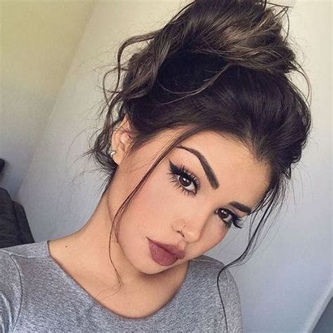 chic messy updo hairstyles  luxuriously long hair