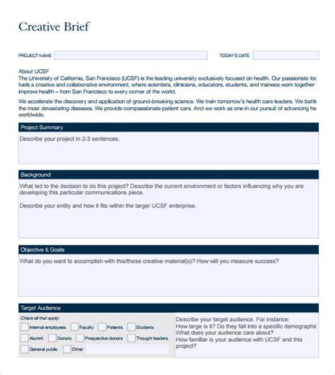 brief template microsoft word 10 creative brief sles sle templates