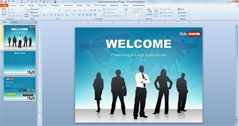 Free Presentation Templates For Powerpoint 2007 by Free Global Leadership Powerpoint Template Free