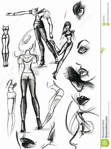 Abstract Women Illustrations Stock Illustration
