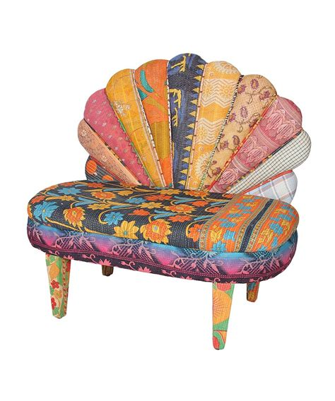 karma living floral peacock chair