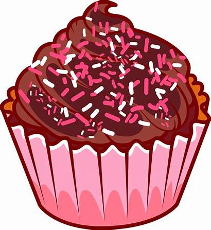 Cake Cupcake Chocolate Muffin Sprinkles Cupcakes Clipart